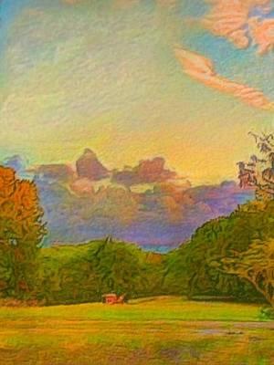 Digital Art - Warm View Of South Shore - Vertical by Lyn Voytershark