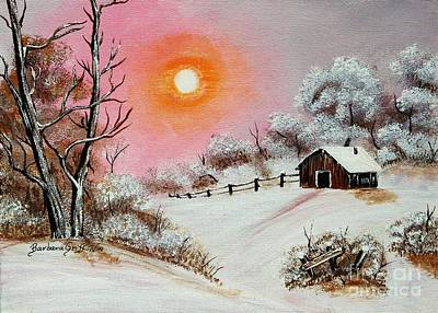 Warm Winter Day After Bob Ross Art Print
