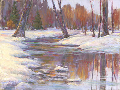 Painting - Warm Winter Reflections by Billie Colson