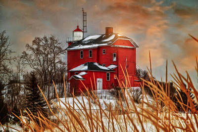 Warming By The Sun Art Print by Upper Peninsula Photography