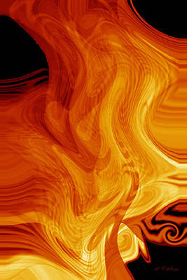 Art Print featuring the digital art Warmth by rd Erickson
