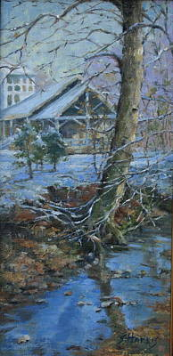 Nashville Park Painting - Warner Park Visitor Center by Sandra Harris