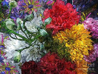Warning Flowers At Large Art Print by Joseph J Stevens