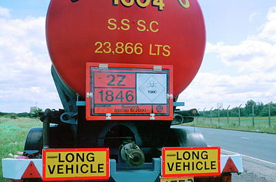 Tanker Wall Art - Photograph - Warning Signs by Robert Brook/science Photo Library