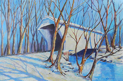 Painting - Warnke Bridge Preble County by David  Maynard