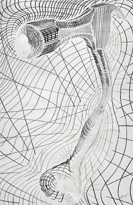 Proportions Drawing - Warp Drive by Aaron Kittredge