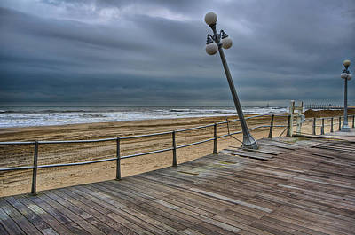 Hurricane Lamps Photograph - Warped Boardwalk by Mike Horvath
