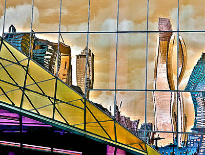 Photograph - Warped City by Rick Mosher
