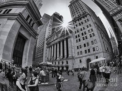Warped Wall Street Art Print
