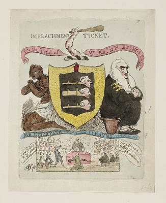 Warren Hastings Impeachment Ticket Art Print by British Library