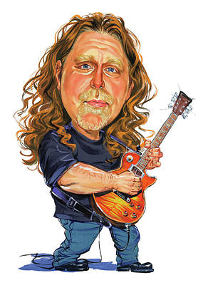 Musicians Royalty Free Images - Warren Haynes Royalty-Free Image by Art