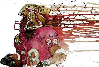 Florida State Mixed Media - Warrick's Seminoles by Michael  Pattison