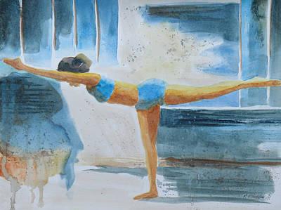Warrier IIi Namaste Yoga Art Print