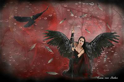 Warrior Angel  Art Print