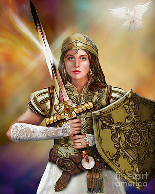 Warrior Bride Of Christ Art Print