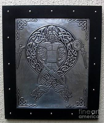Metal Embossing Relief - Warrior by Cacaio Tavares