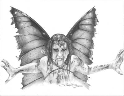 Warrior Fairy Art Print by Carolee Conway