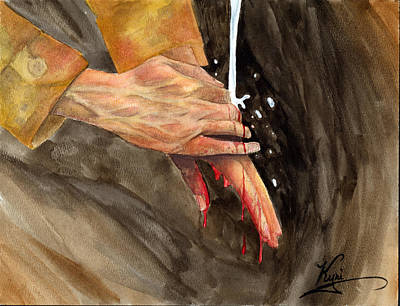 Oif Painting - Warrior Hands by Annette Redman