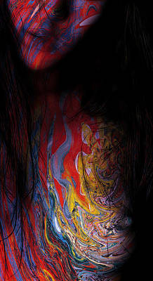 Warrior Of Love Art Print by Steve K