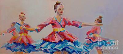 Bun Painting - Warrior Princess by Kimberly Santini