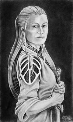 Warrioress Drawing - Warrioress by Lisa Nadler