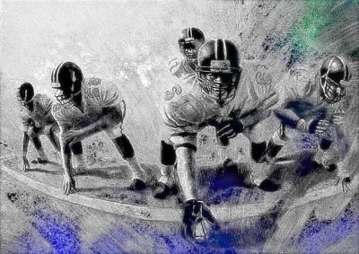 American Football Digital Art - Warriors Of Ice by VRL Art