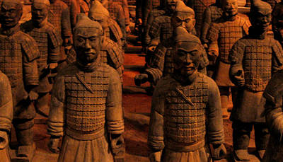 Art Print featuring the photograph Warriors Terra Cotta by Patricia Januszkiewicz