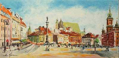 Painting - Warsaw- Castle Square by Luke Karcz