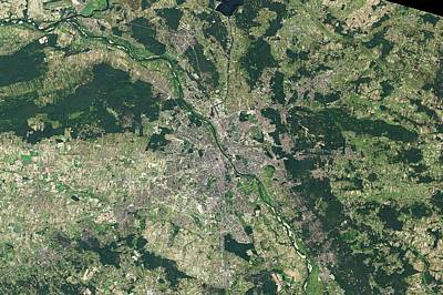 Suburban Photograph - Warsaw In 2013 by Nasa Earth Observatory