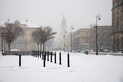 Church Photograph - Warsaw In Morning Snow by Steven Richman