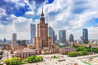 Photograph - Warsaw Poland by Michal Bednarek