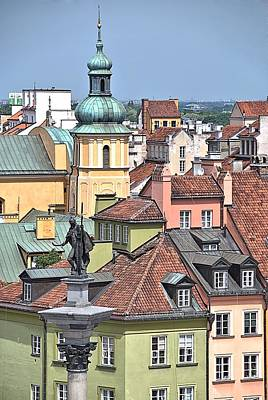 Europe Photograph - Warsaw Rooftops by Steven Richman