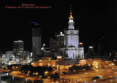 Photograph - Warsaw With Palace Of Culture by Jacqueline M Lewis