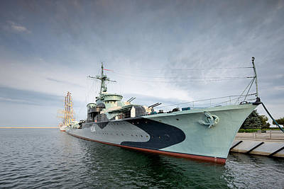 Warship  Art Print by Jan Sieminski