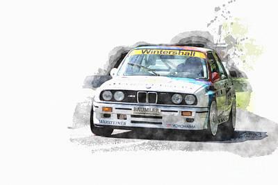 Warsteiner Bmw M3 Art Print by Roger Lighterness