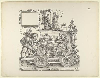Adolf Drawing - Wartime Triumphs, From The Triumphal by Hans Burgkmair