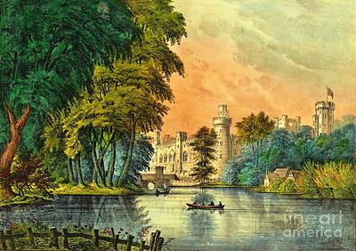 Warwick Castle Photograph - Warwick Castle 1856 by Padre Art