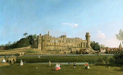 Warwick Castle Painting - Warwick Castle, Canaletto, 1697-1768 by Litz Collection