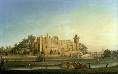 Warwick Castle Painting - Warwick Castle, Francis Harding, Active 1730-1766 by Litz Collection