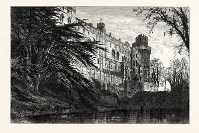 Warwick Castle, From The West, Uk, Britain Print by English School
