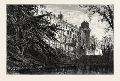 Warwick Castle From The West, Uk, Great Britain Art Print by English School