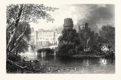 Warwick Castle, Uk, Britain, British, Europe Print by English School