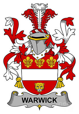 Warwick Coat Of Arms Irish Print by Heraldry