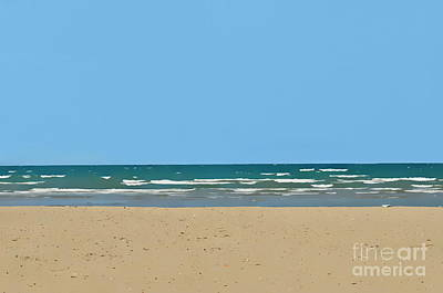 Photograph - Beach - Sandy Water And Sky  by Andrea Kollo