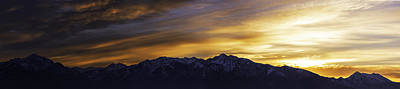 Winter Light Photograph - Wasatch Dawn by Chad Dutson