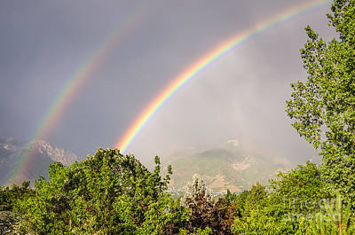 Wasatch Rainbow Art Print