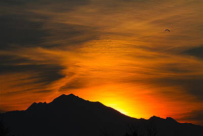 Photograph - Wasatch Sunrise by Paul Marto