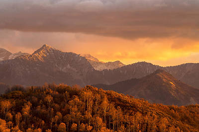 Photograph - Wasatch Sunset by Dustin  LeFevre