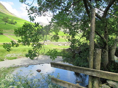 Water Photograph - Wasdale Head Stile by Kathy Spall