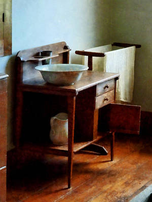 Wash Basin And Towel Art Print